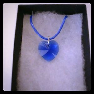 Jewelry - Blueberry Blue Crystal Heart Necklace